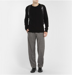 Balenciaga Knitted-Wool Crew Neck Sweater