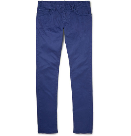 Balenciaga Slim-Fit Overdyed Cotton-Blend Gabardine Jeans