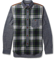 Junya Watanabe Patchwork Cotton and Check Wool Shirt