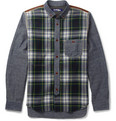 Junya Watanabe - Patchwork Cotton and Check Wool Shirt