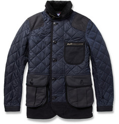 Junya Watanabe Panelled Quilted-Nylon Coat