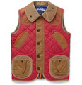 Junya Watanabe - Quilted Nylon, Corduroy and Leather Gilet