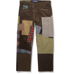 Junya Watanabe Regular-Fit Patchwork Cotton Trousers