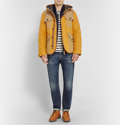 Junya Watanabe Quilted Cotton-Twill Hooded Jacket