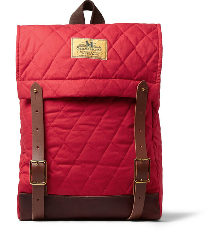 Junya Watanabe Seil Marschall Leather-Trimmed Quilted Backpack