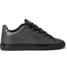 Balenciaga Arena Textured-Leather Sneakers