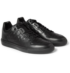 Balenciaga - Debossed Leather Sneakers