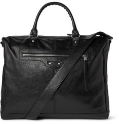 Balenciaga Frame Creased-Leather Tote Bag