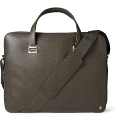 Alfred Dunhill Bourdon Single-Zip Grained-Leather Briefcase
