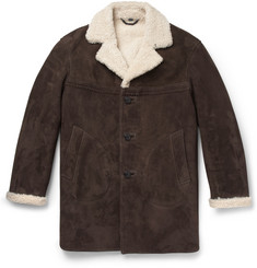 Burberry Prorsum Oversized Shearling Coat