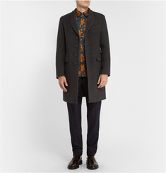 Burberry Prorsum Herringbone Wool and Cashmere-Blend Overcoat