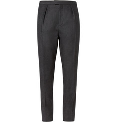 Burberry Prorsum Wool and Cashmere-Blend Flannel Trousers