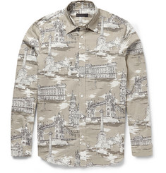 Burberry Prorsum Printed Cotton and Silk-Blend Shirt