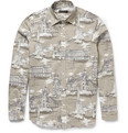 Burberry Prorsum - Printed Cotton and Silk-Blend Shirt