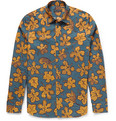 Burberry Prorsum - Leaf-Print Cotton and Silk-Blend Shirt