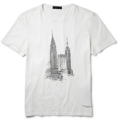 Burberry Prorsum New York City Printed Cotton-Jersey T-Shirt