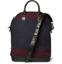 Burberry Prorsum Leather-Trimmed Wool Bag