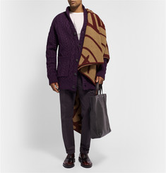 Burberry Prorsum Patterned Wool and Cashmere-Blend Blanket