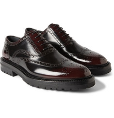 Burberry Prorsum Burnished Glossed-Leather Brogues