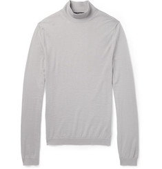 Gucci Fine-Knit Cashmere Turtleneck Sweater