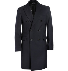 Gucci Bonded-Wool Double-Breasted Overcoat