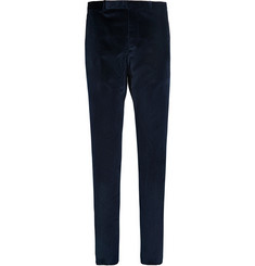 Gucci Slim-Fit Velvet Trousers