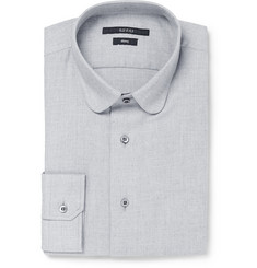 Gucci Blue Slim-Fit Cotton and Cashmere-Blend Shirt