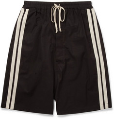 Rick Owens Drop-Crotch Cotton-Blend Shorts