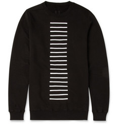 Rick Owens DRKSHDW Striped Cotton-Jersey Sweatshirt