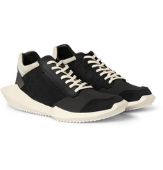 Rick Owens adidas Panelled Leather and Fabric Sneakers