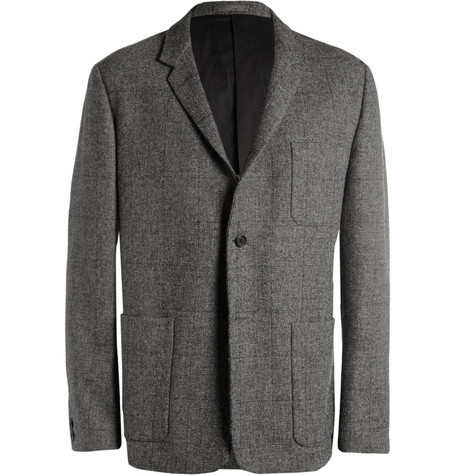 Margaret Howell Unstructured Windowpane Check Wool Blazer
