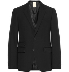 Wooyoungmi Black Slim-Fit Wool-Twill Suit Jacket