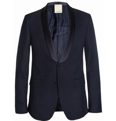 Wooyoungmi Navy Slim-Fit Wool-Blend Suit Jacket