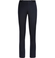 Wooyoungmi Navy Slim-Fit Wool-Blend Suit Trousers