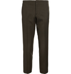 Wooyoungmi Cropped Wool-Twill Trousers