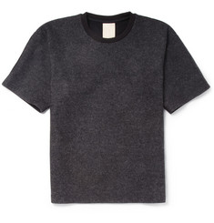 Wooyoungmi Panelled Wool-Blend Felt T-Shirt