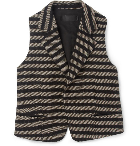 Haider Ackermann Striped Wool Waistcoat