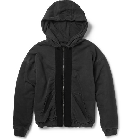 Haider Ackermann Double-Layered Cotton-Jersey Hoodie