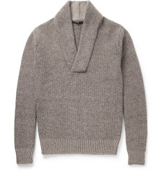 Haider Ackermann Chunky-Knit Shawl-Collar Sweater