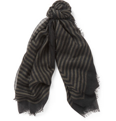 Haider Ackermann Striped Cashmere Scarf