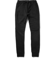Balmain Panelled Cotton-Jersey Sweatpants
