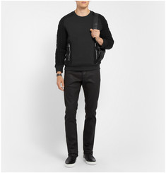 Balmain Cotton and Merino Wool-Blend Panelled Sweater