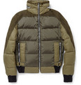 Balmain - Suede-Panelled Padded Down Jacket