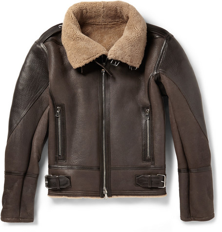 Balmain Shearling Aviator Jacket