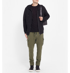 Balmain Drop-Crotch Cotton-Jersey Cargo Trousers