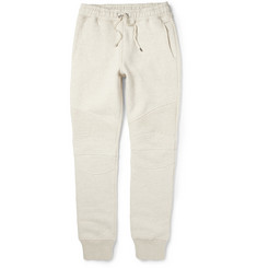 Balmain Slim-Fit Cotton and Wool-Blend Jersey Biker Sweatpants