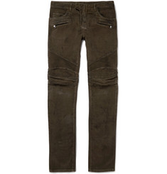 Balmain Moleskin Cotton Biker Trousers