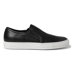 Balmain Leather Slip-On Sneakers
