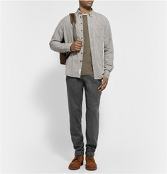 Rag & bone Walker Slim-Fit Herringbone Wool-Blend Trousers