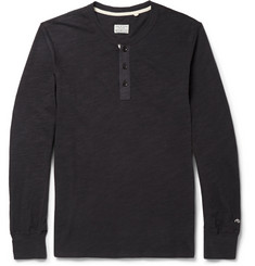 Rag & bone Long-Sleeved Cotton-Jersey Henley T-Shirt